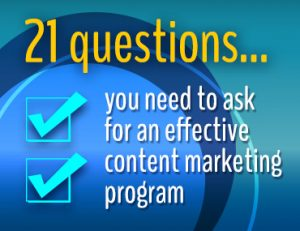 Questions to ask for an effective content marketing program